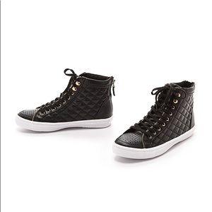 Rebecca Minkoff Sandi Too Quilted Black Sneaker 10